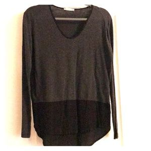 High-low long sleeve